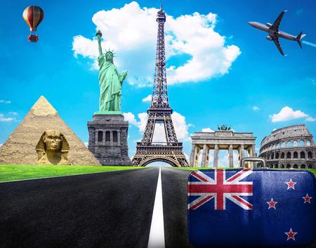 new zealand landscape: Travel the world conceptual image - Visit New Zealand