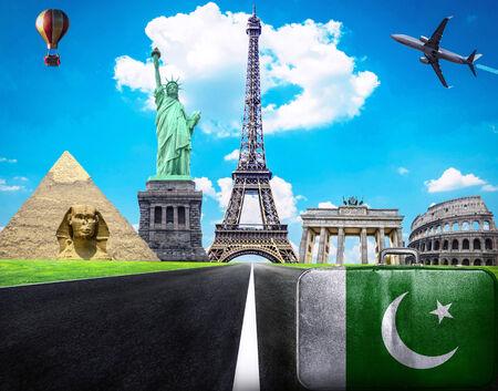 Travel the world conceptual image - Visit Pakistan photo