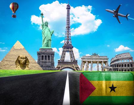 tome: Travel the world conceptual image - Visit Sao Tome and Principe