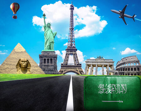 Travel the world conceptual image - Visit Saudi Arabia photo