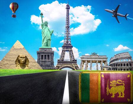 Travel the world conceptual image - Visit Sri Lanka photo