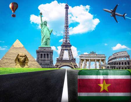 suriname: Reis de wereld conceptueel beeld - Bezoek Suriname Stockfoto