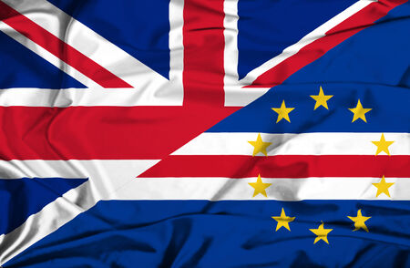 cape verde: Waving flag of Cape Verde and UK