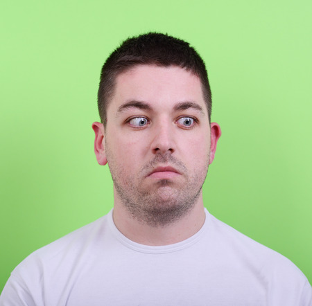 Portrait of confused looking man photo