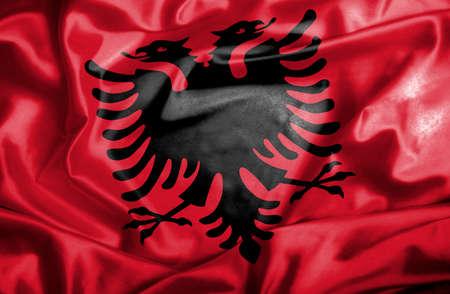 albania: Albania waving flag