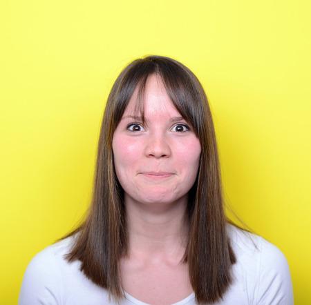 blushing: Portrait of girl blushing