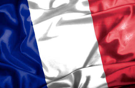 France waving flag photo