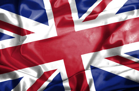 waving flag: Great Britain waving flag