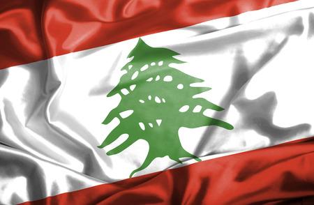 Lebanon waving flag photo