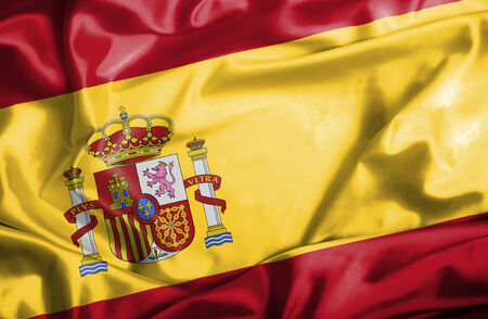 flag of spain: Spain waving flag