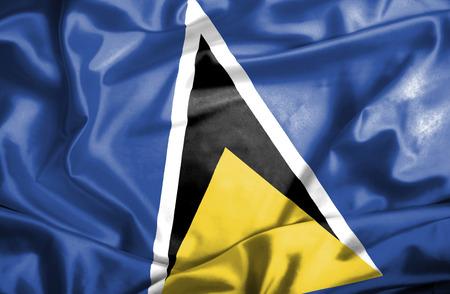 st lucia: St Lucia waving flag