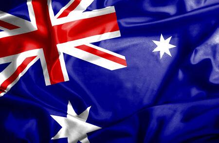 Australia waving flag photo