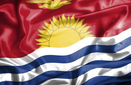 kiribati: Kiribati waving flag