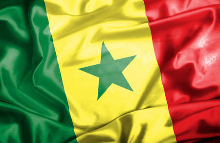 Senegal waving flag photo