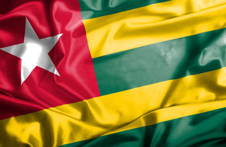 togo: Togo waving flag Stock Photo