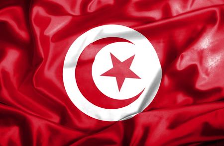 Tunisia waving flag photo