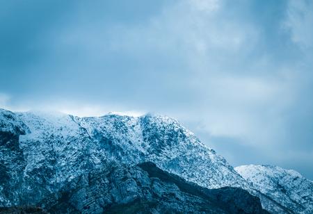 wallis: Winter landscape of mountain Stock Photo