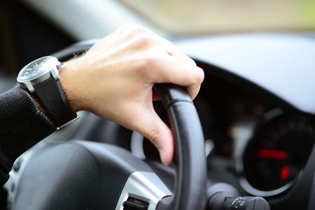 Man driving car concept