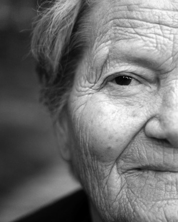 Close up portrait of older lady