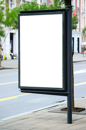 lightbox: Blank billboard on the city street