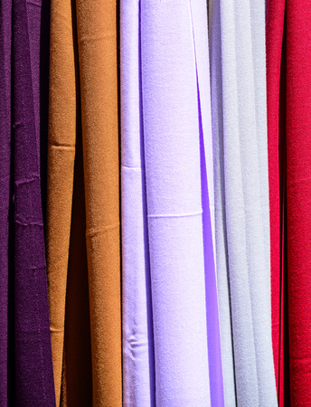 scarves: Colored scarves texture Stock Photo