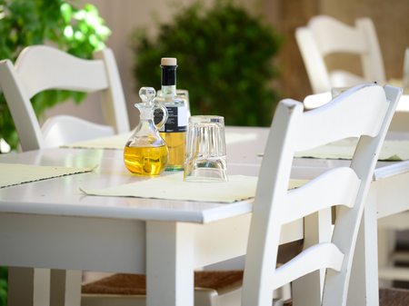 Greek tavern concept photo