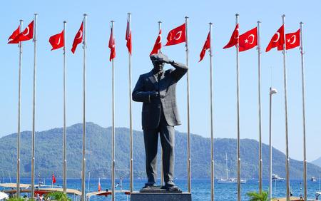 mustafa: Monument to the first president of Turkey Mustafa Kemal Ataturk