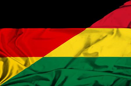 Waving flag of Bolivia and Germany
