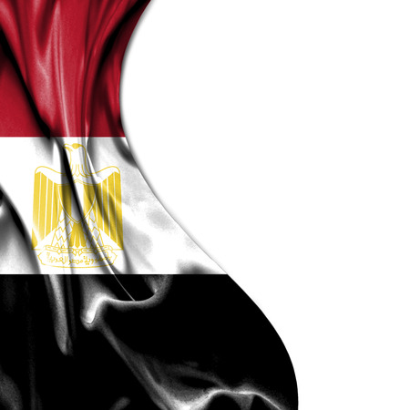 egypt flag: Egypt flag isolated on white background Stock Photo