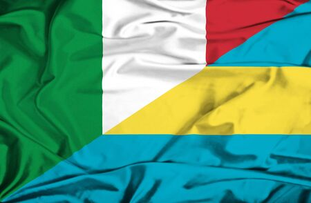 bahamas: Waving flag of Bahamas and Italy
