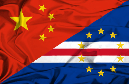 verde: Waving flag of Cape Verde and China