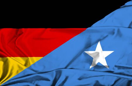 somalian culture: Waving flag of Somalia and Germany