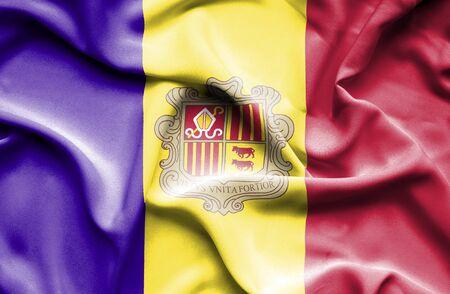 andorra: Andorra waving flag