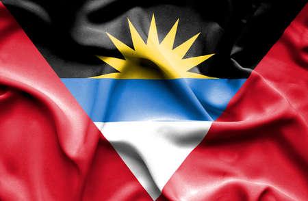 antigua: Antigua and Barbuda waving flag