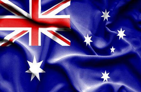 waving flag: Australia waving flag