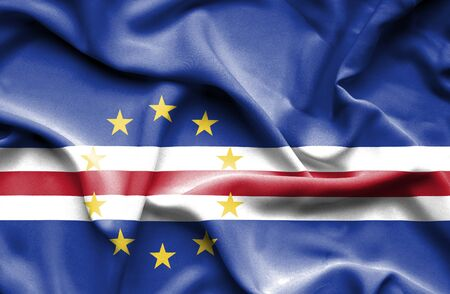 verde: Cape Verde waving flag Stock Photo