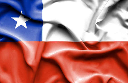 chile: Chile waving flag Stock Photo