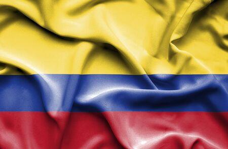 columbia: Columbia waving flag