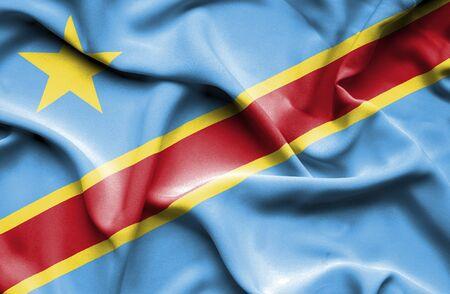 congo: Congo Democratic Republic waving flag