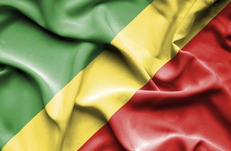 congo: Congo Republic waving flag Stock Photo