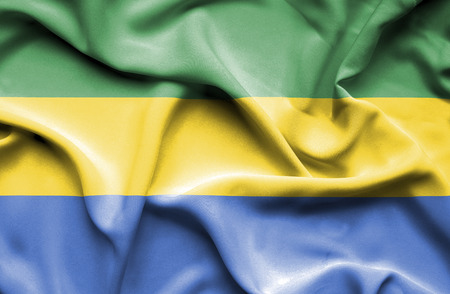 gabon: Gabon waving flag