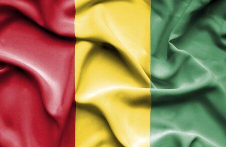 guinea: Guinea waving flag
