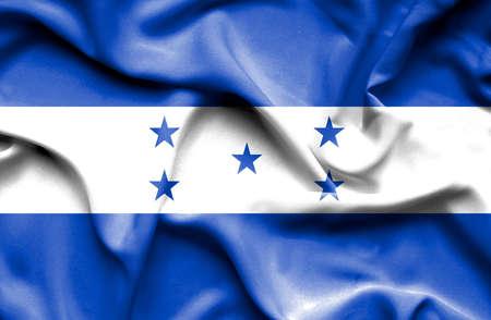 honduras: Honduras waving flag