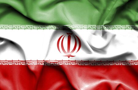 iran: Iran waving flag Stock Photo