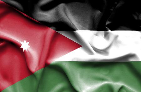 jordan: Jordan waving flag Stock Photo