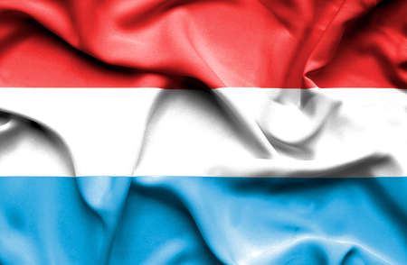 luxembourg: Luxembourg waving flag