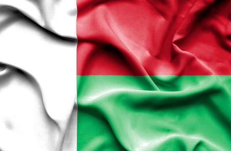 madagascar: Madagascar waving flag