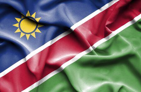 namibia: Namibia waving flag Stock Photo
