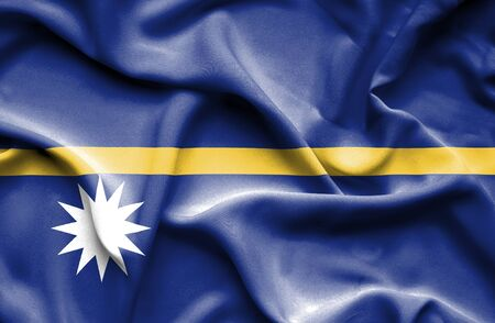 nauru: Nauru waving flag
