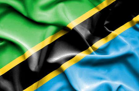 tanzania: Tanzania waving flag